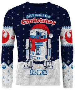 Star Wars: All I Want For Christmas Is R2 Knitted Christmas Sweater