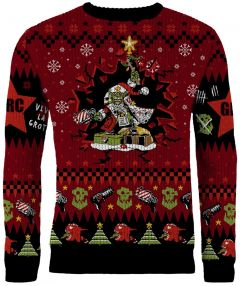 Warhammer 40,000: Armed and Dangerous Red Gobbo Ugly Christmas Sweater/Jumper