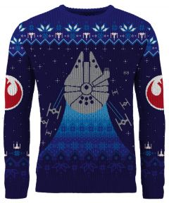 Star Wars: Frosty Falcon Knitted Christmas Sweater