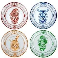 """Harry Potter: """"Accio Meal Time"""" Hogwarts House Plate Set Preorder"""