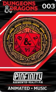 Dungeons & Dragons: Ornate D20 Pinfinity AR Pin Badge Preorder
