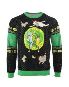 Rick and Morty: Portal Party People Christmas Sweater