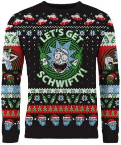 Rick & Morty: Let's Get Schwifty Ugly Christmas Sweater