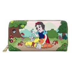 Snow White and the Seven Dwarves: Multi Scene Loungefly Zip Around Purse
