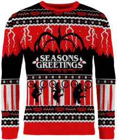 Stranger Things: Seasons Greetings From The Upside Down Knitted Christmas Sweater/Jumper