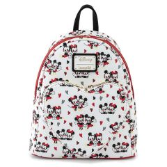 Disney: Mickey and Minnie Mouse Love Heart Loungefly Mini Backpack