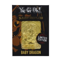 Yu-Gi-Oh!: Baby Dragon Limited Edition 24K Gold Plated Metal Card Preorder