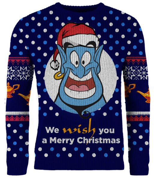 Aladdin: We WISH You A Merry Ugly Christmas Ugly Christmas Sweater/Jumper