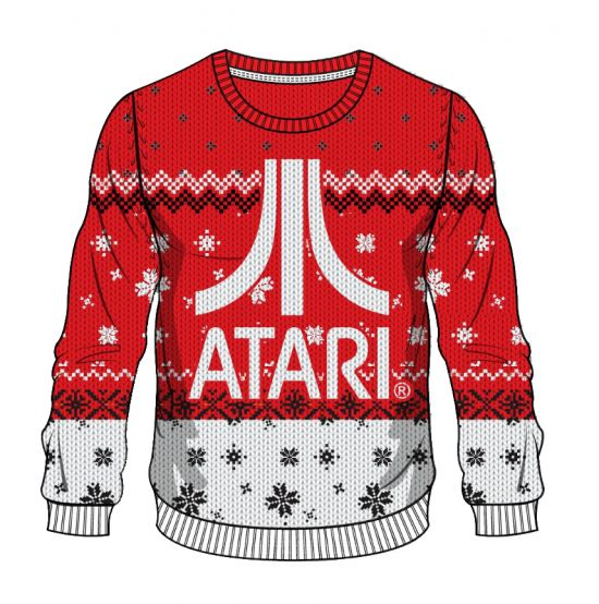 Atari: Red Button, White Christmas Sweater/Jumper