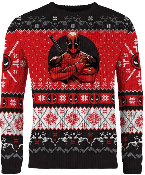 Deadpool: Once Upon A Deadpool Ugly Christmas Sweater/Jumper