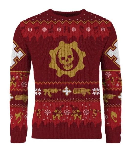 Gears Of War: Gear-ing Up For Gifts Ugly Christmas Sweater/Jumper (Includes Fruitcake Weapon Set DLC)