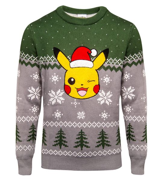 Pokemon: 'All I Want For Xmas Is Chu' Pikachu Christmas Sweater/Jumper