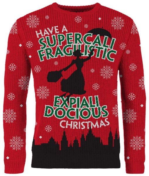 Mary Poppins: Have A Supercalifragilisticexpialidocious Christmas Sweater/Jumper