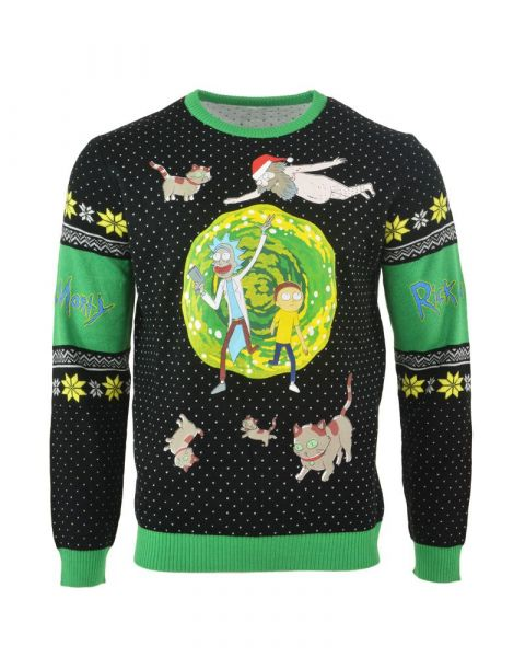 Rick and Morty: Portal Party People Christmas Sweater/Jumper