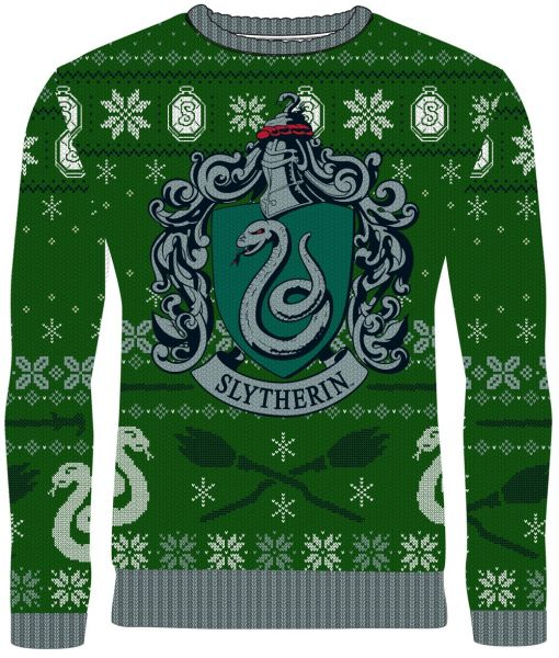 Harry Potter: Slytherin Sleigh Bells Ugly Christmas Sweater/Jumper