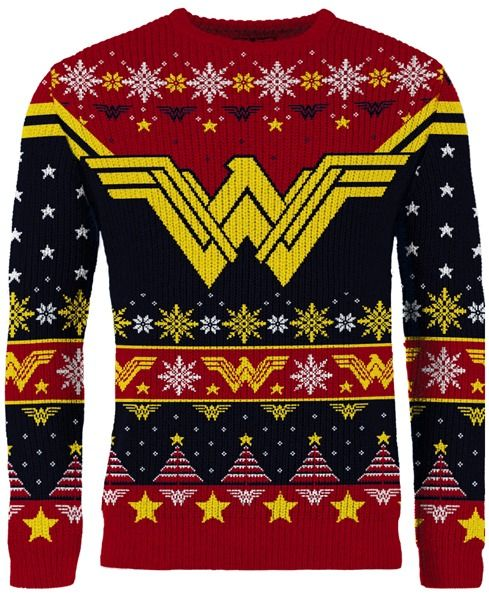 Wonder Woman: The Most Wonder-ful Time Of The Year Ugly Christmas Sweater/Jumper