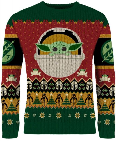 Baby Yoda Knitted Christmas Sweater Jumper
