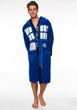 Doctor Who: Cosier On The Inside Tardis Bathrobe