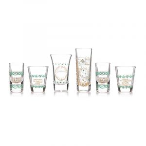 Lord Of The Rings: 'The Journey Doesn't End Here' Glass Set - Set of 6