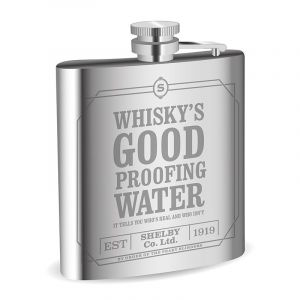 Peaky Blinders: 'Whisky's Good Proofing Water' Hip Flask