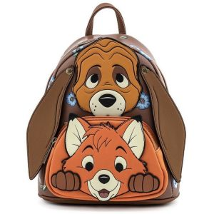 """The Fox and the Hound: """"I've Got Your Back"""" Todd and Copper Loungefly Mini Backpack"""