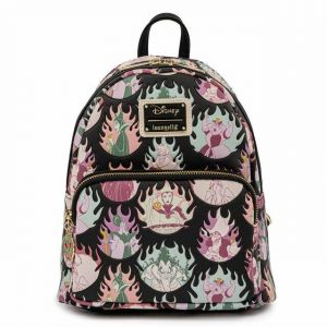 Disney: Villains Pastel Flames Loungefly Mini Backpack Preorder