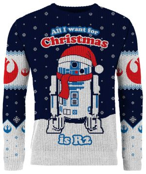 Star Wars: All I Want For Christmas Is R2 Knitted Christmas Jumper