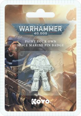 Warhammer 40,000: Paint Your Own Space Marine Pin Badge