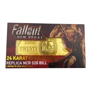 Fallout New Vegas: 24k Gold Plated Limited Edition Replica NCR $20 Bill Preorder