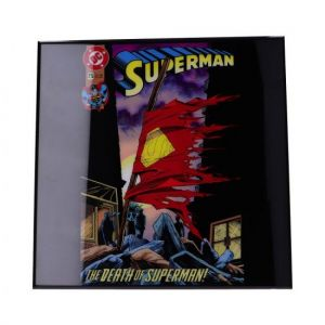 Superman: The Death Of Superman Crystal Clear Glass Picture Preorder