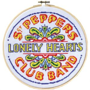 The Beatles: Sgt. Pepper's Lonely Hearts Club Band Drum Cross-Stitch Hoop Kit Preorder