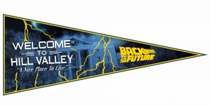 Back To The Future: Welcome To Hill Valley Pennant Flag