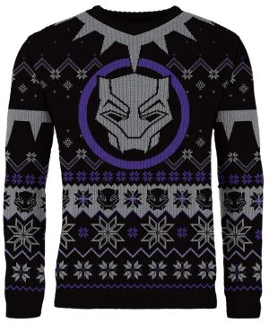 Black Panther: Wakandan Wishes Knitted Christmas Jumper
