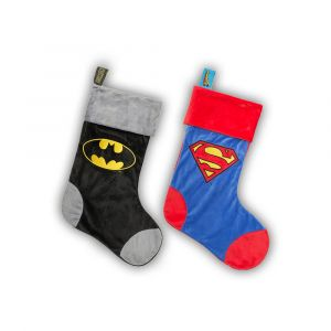 Batman and Superman: Luxury 19 inch Christmas Stocking Bundle