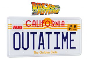 Back To The Future: OUTATIME License Plate Replica