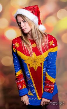 Captain Marvel: Festive Is A Good Look For You Ugly Christmas Sweater/Jumper