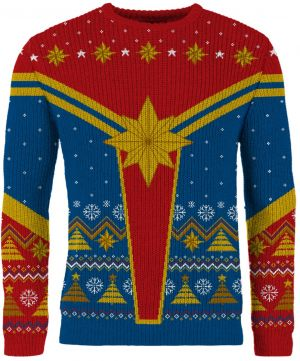 Captain Marvel: Festive Is A Good Look For You Knitted Christmas Jumper