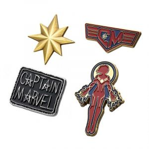 Captain Marvel: Frequent Flyer Enamel Lapel Pin Set