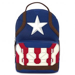 Avengers Endgame: 'Time To Suit Up' Captain America Loungefly Mini Backpack