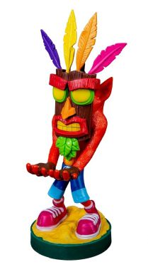 Crash Bandicoot: Aku Aku 8 inch Cable Guy Phone and Controller Holder