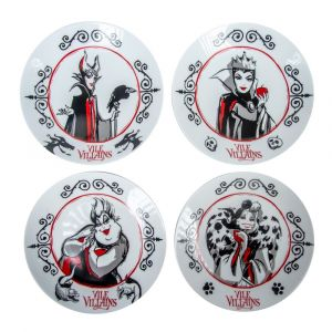 Disney: Vile Villains Plate Set