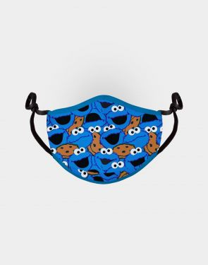 Sesame Street: Cookie Monster Collage Adjustable Face Mask