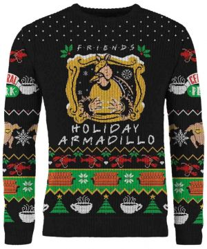 Friends: The One With The Holiday Armadillo Knitted Christmas Sweater