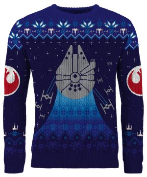 Star Wars: Frosty Falcon Knitted Christmas Jumper