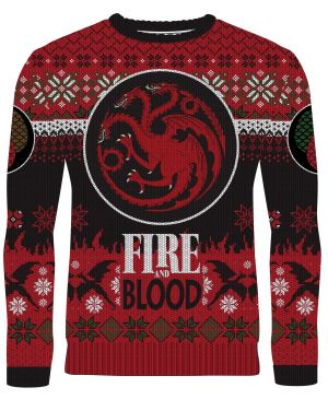 Game Of Thrones: Fire & Blood Targaryen Knitted Christmas Sweater