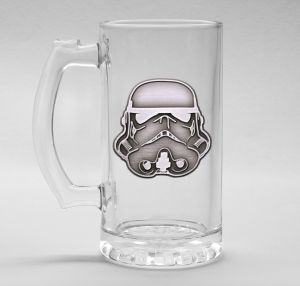 Original Stormtrooper Helmet Stein Glass