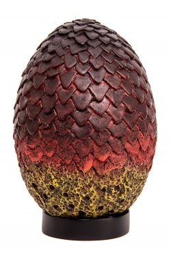 Game of Thrones: Red And Black Dread Drogon Dragon Egg Prop Replica