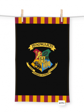 Harry Potter: Manual-Drying Muggle Hogwarts Tea Towel