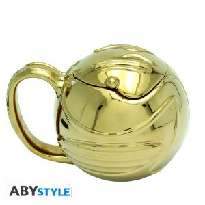 Harry Potter: Golden Snitch 3D Mug with Lid