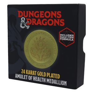 Dungeons & Dragons: 24K Gold Plated Limited Edition Amulet of Health Medalion Preorder